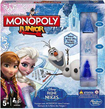Hasbro a décliné son Monopoly Junior en version Reine des Neiges. Le jeu de plateau est actuellement disponible à partir de 18,38 € : comparez les prix sur idealo.fr