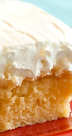 Hawaiian Dream Cake ~ This light, fluffy, dreamy cake recipe will transport you to the Tropics