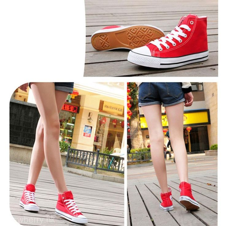 Popular Women Lady High Top Casual Athletic Sport Shoes Canvas Sneakers Trainers #Unbranded #Comfort