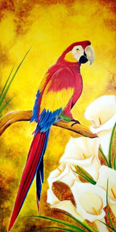 Imágenes Arte Decorativo: Cuadros de aves exóticas al oleo