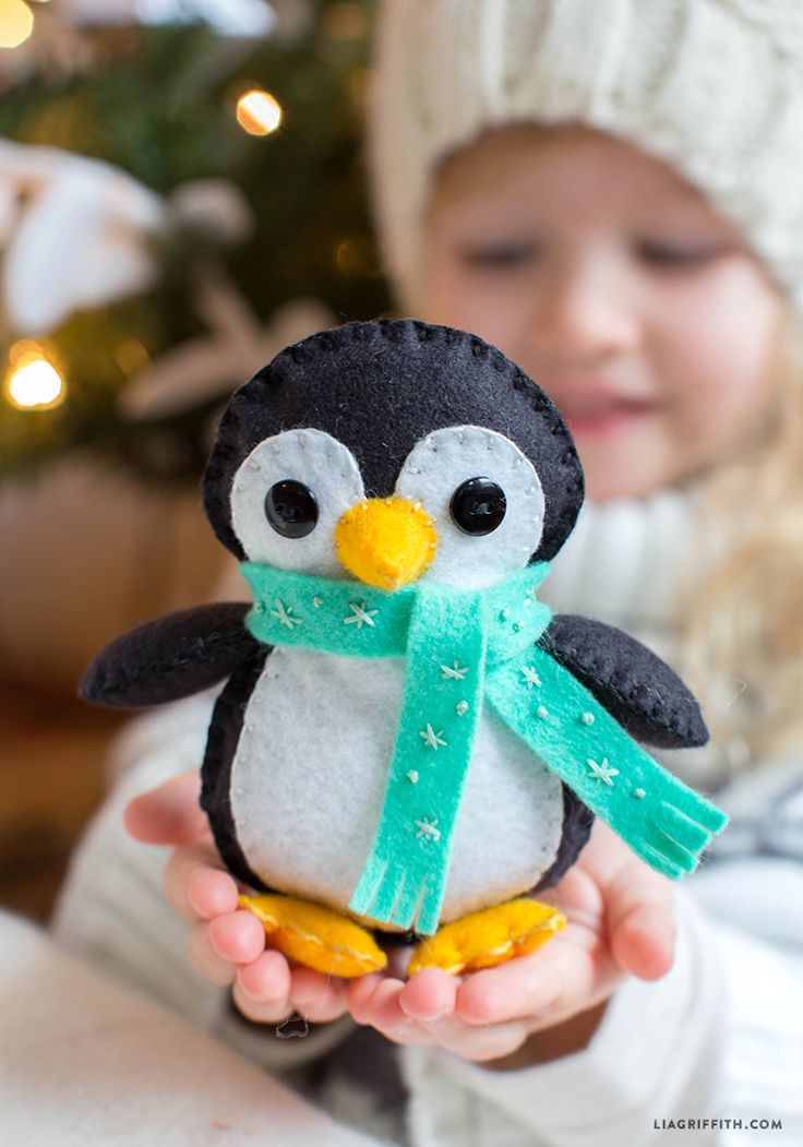 27+ Adorable Free Sewing Patterns for Stuffies, Plushies, Stuffed Animals and Other Felt and Fabric Toys- Stuffed Penguin Softy Pattern from Lia Griffith