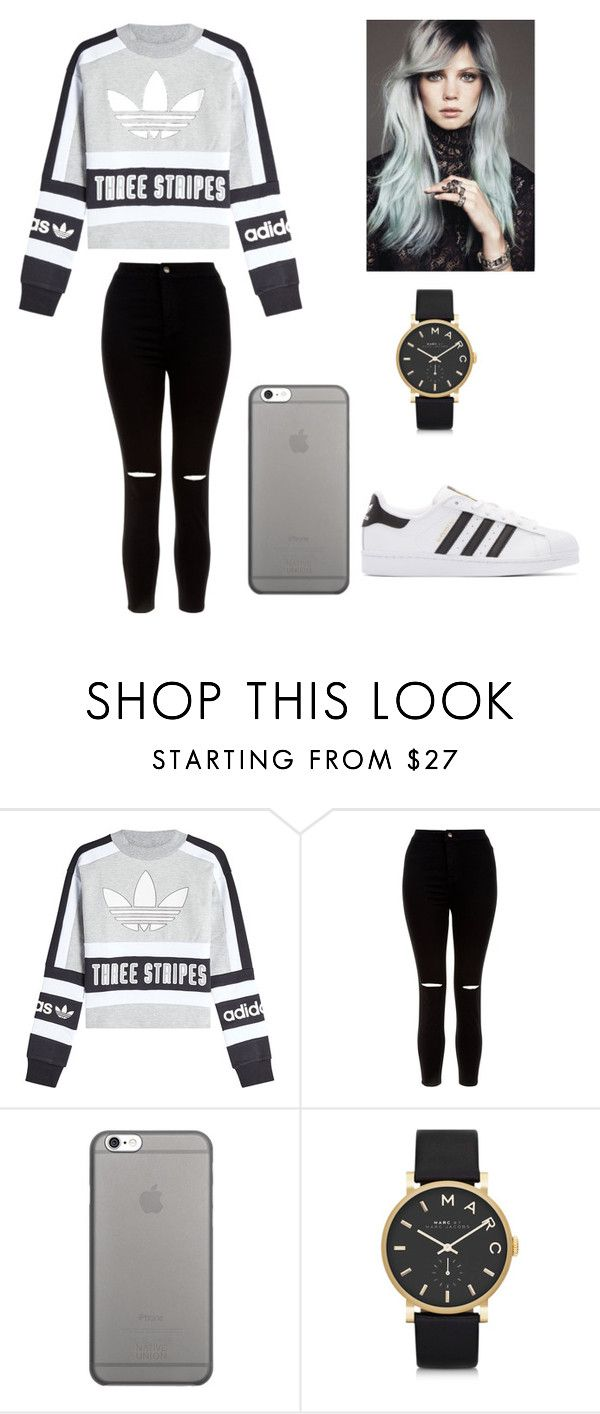 """""""Hanna"""" by raffaela-barth on Polyvore featuring New Look, Native Union, Marc by Marc Jacobs and adidas Originals"""