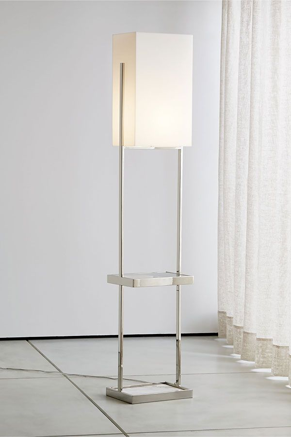 Marlo Frosted Rectangle Floor Lamp Reviews Crate And Barrel