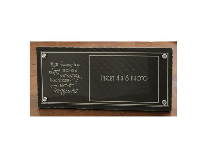 """Laser Engraved Cast Acrylic/Rustic Pallet 4 x 6  Memory Photo Frame -- """"When Someone You Love Becomes a Memory..."""" by DakotaExpressions1 on Etsy"""