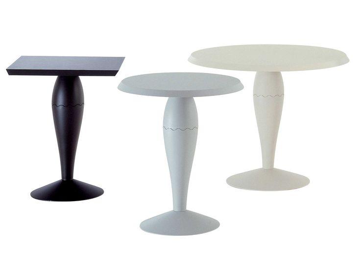 MISS BALU' (1989) interpreta in chiave moderna l'idea tipo del tavolo dell'800 a gamba centrale. Si tratta di una collezione completa di tavoli per differenti utilizzi. Lo studio e l'impiego di un nuovo compound plastico, garantisce resistenza all'abrasione e un ottimo invecchiamento. La serie dei tavoli propone tre modelli: il tavolino quadrato e tavolino rotondo, entrambi di piccole dimensioni; il tavolo rotondo grande, utilizzabile in cucina come tavolo da pranzo.