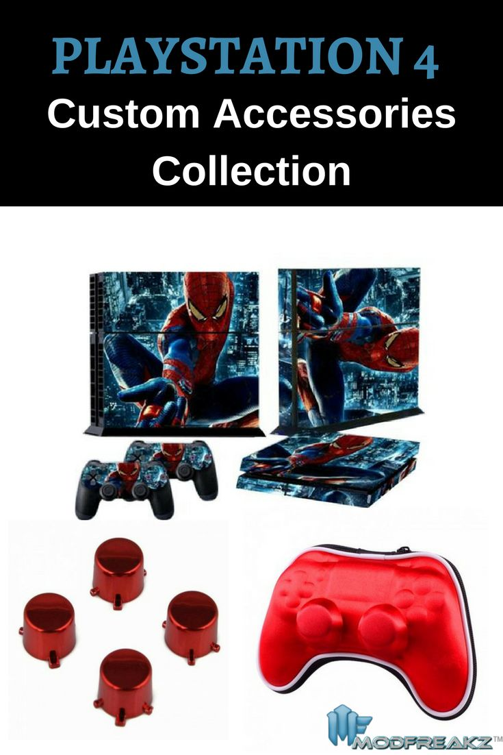 Top quality accessories and customization components for your PlayStation 4. #ps4 #accessories #gaming #collection