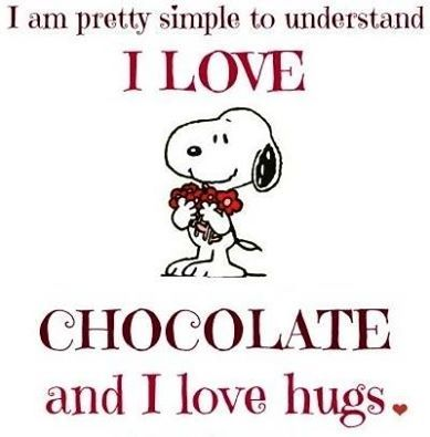 I ♥ CHOCOLATE AND I ♥ HUGS!