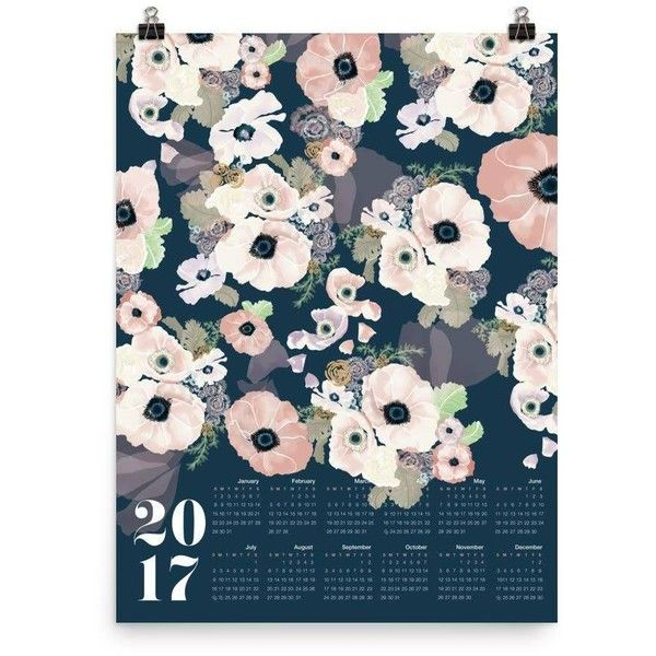 Khristian Howell 2017 Une Femme Wall Calendar Navy And Blush By ($48) ❤ liked on Polyvore featuring home, home decor, office supplies, navy blue home accessories, navy home decor and navy blue home decor