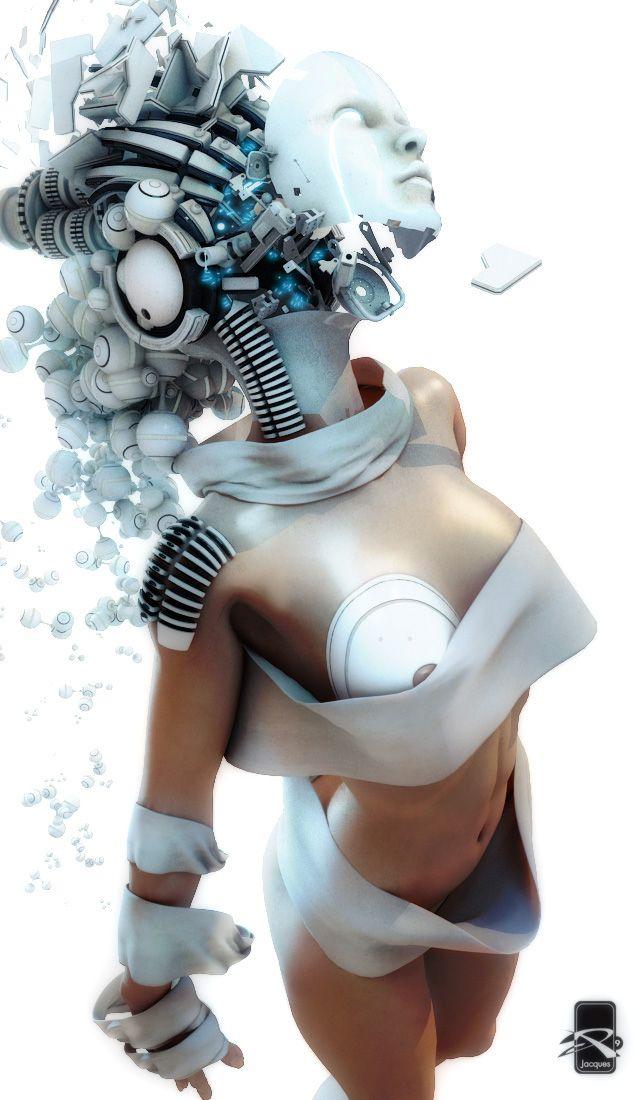 голый робот женщина-сщ2