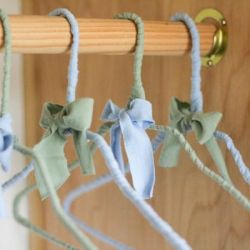 Repurpose those flimsy dry cleaner hangers with this easy DIY!