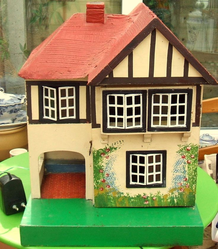 Vintage Deco Dolls House Early Triang No 60