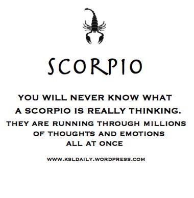 Scorpio Thoughts!