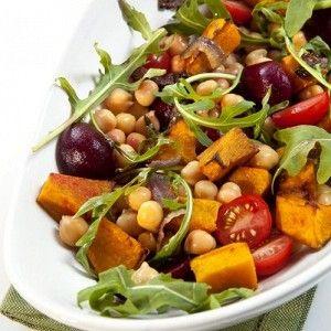 Теплый салат из тыквы с нутом и заправкой из тахини рецепт – постная еда: салаты. «Афиша-Еда»