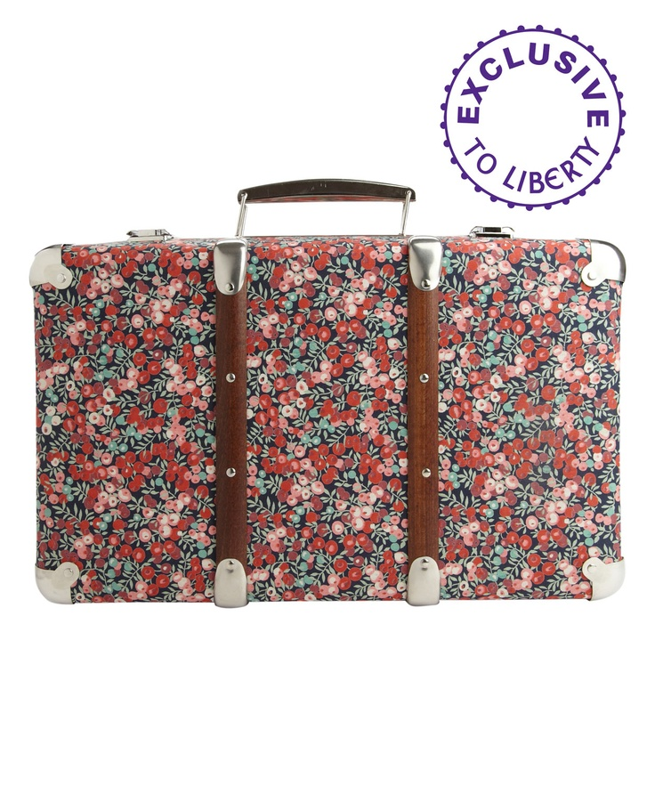 adorable suitcase from Liberty of London. £60 {i wish there were more suitcases like this, our travel suitcases are quite boring}