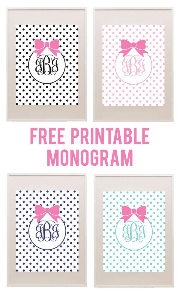 17 Best ideas about Free Printable Monogram on Pinterest   Free ...