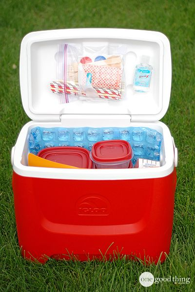 Camping or road-tripping this holiday weekend?? Check out these great ideas for packing your cooler that will keep it clean, organized, and your food COLD! :-)