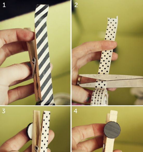 Decoracion Washi Tape ~ Decoracion de pinzas con washi tape  Diy  Pinterest