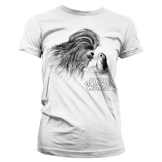 Dámské tričko Star Wars The Last Jedi Chewbacca & Porg