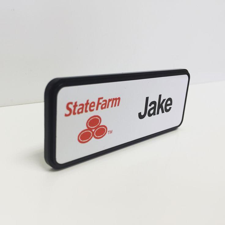Jake From State Farm Wedoitall Namebadges Nametags Magetic Custom Frame Black Statefarm Jake Halloween C Jake From State Farm Name Badges Name Tags