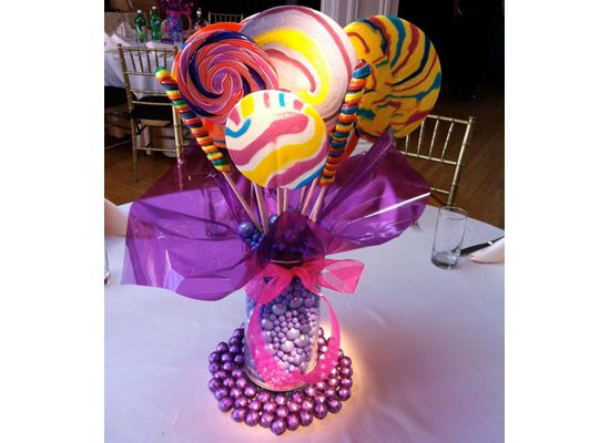 Candy Table Centerpieces | Candy Table Centerpieces by Deweys NYC