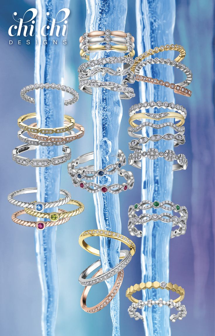 DECEMBER 4-10: Save 20% on all CHICHI DESIGNS this week only. Mix and match. Stackable rings in rose, white and yellow gold starting at $199. https://www.danasgoldsmithing.com/collections/rings/products/diamond-anniversary-band-3  #diamond #ring #sale #stackable #rosegold #PortPerry