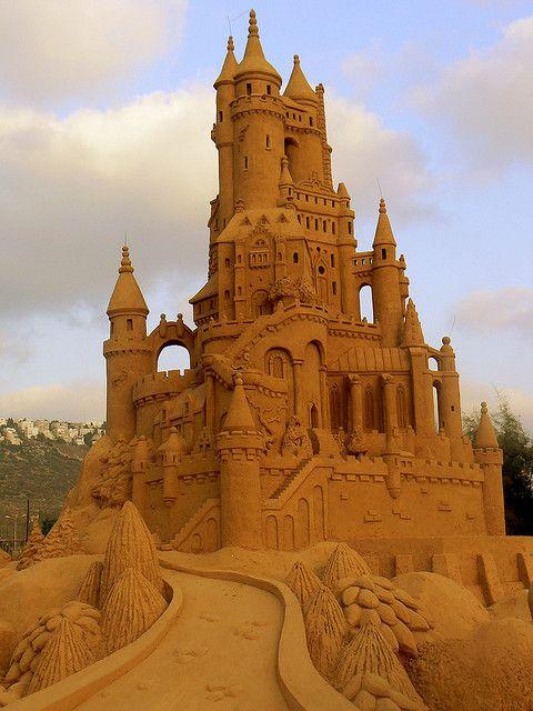 Sand Castle at the beach in Haifa