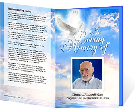 56 best Funeral\/Home Going images on Pinterest Funeral, Template - free funeral program templates download