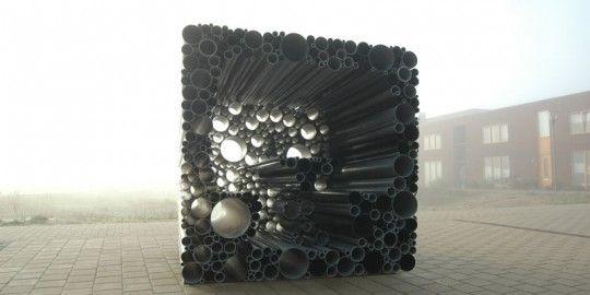 PVC pipes reuse by Hoogte twee