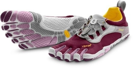 Mine are blue and grey :) Most comfortable shoes on the face of the planet, just saying! Im a Vibram girl :)