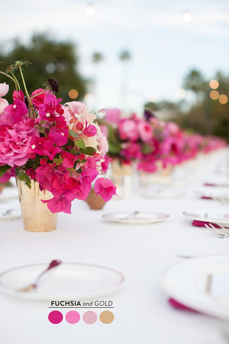 Wedding decorations gold and pink   best Centerpiecetablescape images on Pinterest