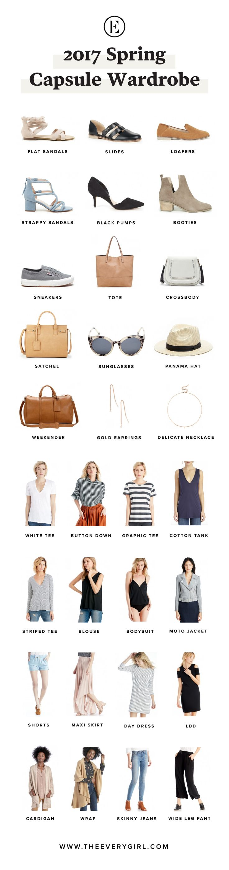 Our 2017 Spring Capsule Wardrobe A Giveaway to @solesociety ! #theeverygirl