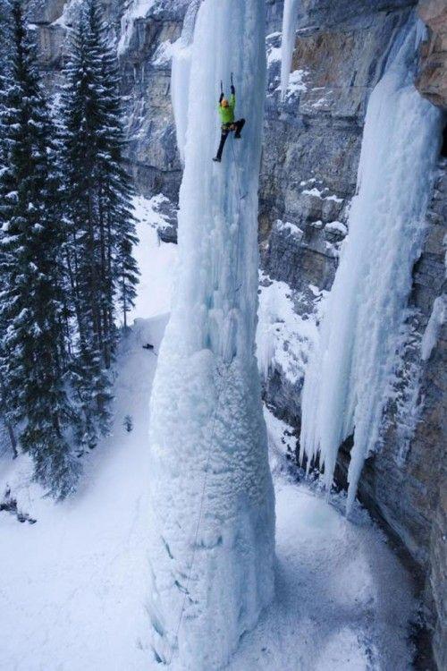 Climbing a Frozen Waterfall (Pic)