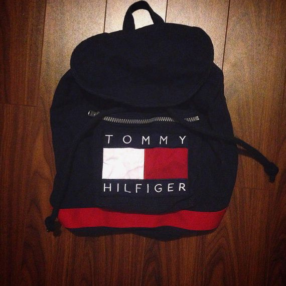 Vintage 1990's Tommy Hilfiger backpack bag school bag @ møe ⛅ fσℓℓσω мє for more!