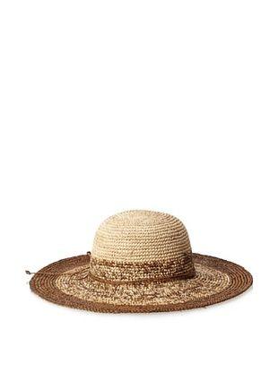 54% OFF Straw Studios Women's Wide Brim Hat, Brown