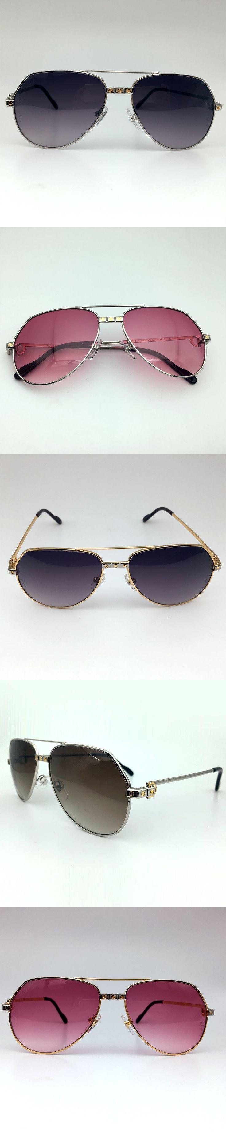 LAOKE Aviator sunglasses men metal sun glass frame Carter glasses women designer brand fashion pilot sunglass vintage for mens