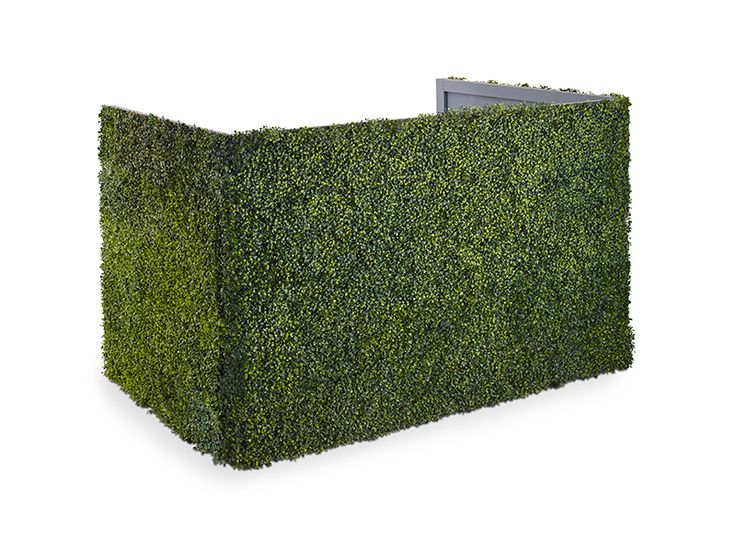 Hedge DJ Booth - Dimensions: 74″L x 48″W x 48″H – Product Code: DJHG                                                                                                                                                      More