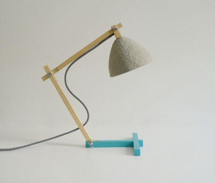 """Metamorfozis"" lampa na biurko nr 5 w crea-re na DaWanda.com"