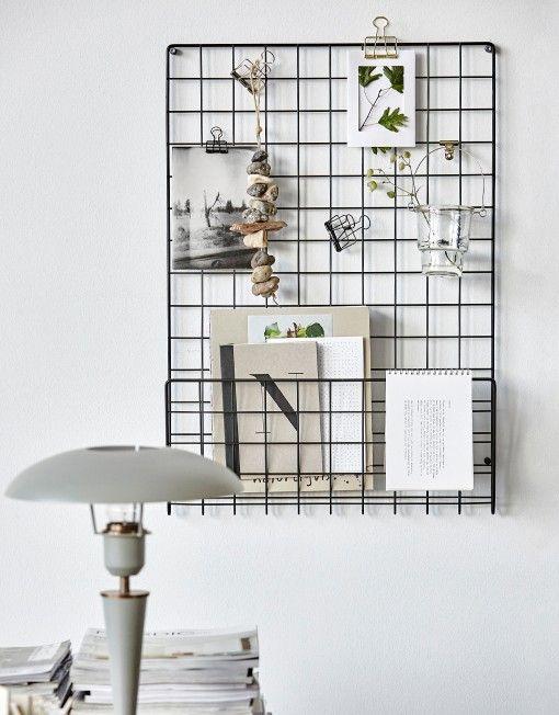 house-doctor-memobord-en-tijdschriftenrek-gaas-noticeboard-mesh-zwart-01
