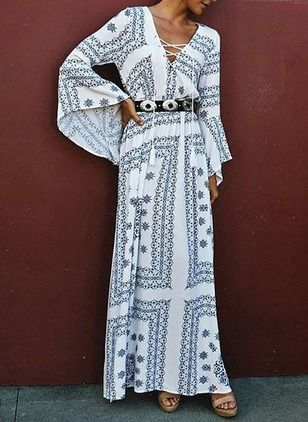 Polyester andra Långärmad Maxi Vintage Bröllopsklänningar (1955098709)