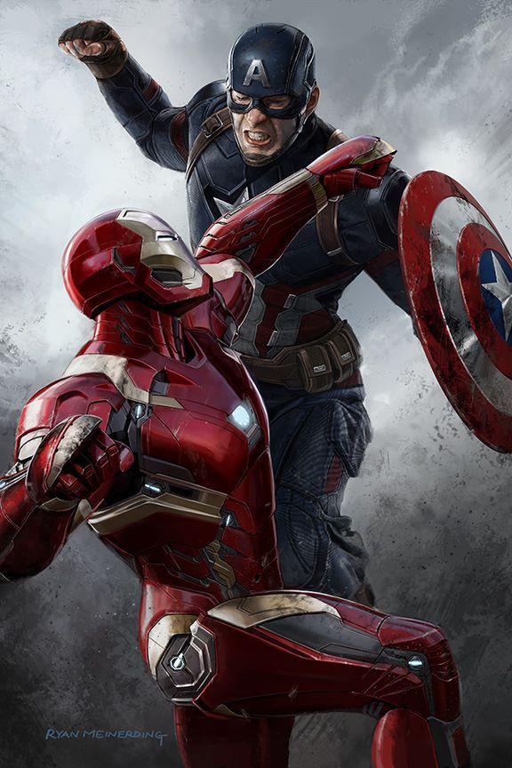 """bear1na: """"Captain America: Guerra Civil conceito de arte por Ryan Meinerding *"""""""