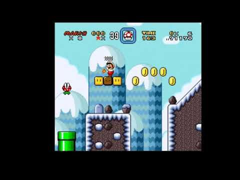 Pablo Plays - Super Mario World: Christmas Edition (SNES) - ICE AND SNOW...