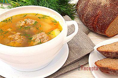 Картофельный суп с фрикадельками и вермишелью