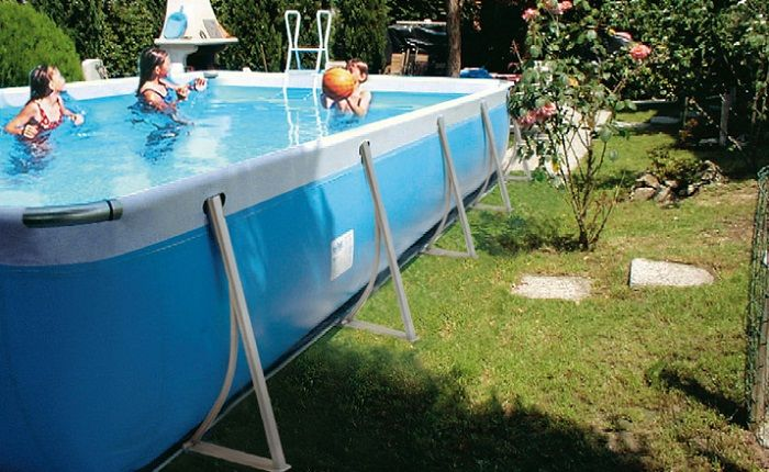 Portable Swimming Pools with Attractive Design: Stunning Portable Swimming Pools Design In The Small Home Exterior ~ warnhouse.com Exterior Design Inspiration