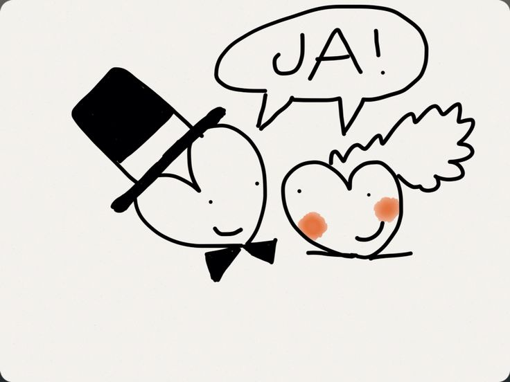 Illustratie voor trouwkaart...