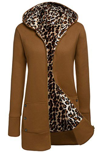 Meaneor Womens Slim fit Zipup Hoodie Jacket Camel XL ** You can find more details by visiting the image link.