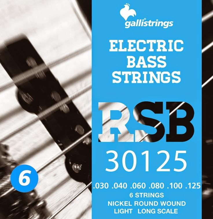 RSB 30125 6 strings nickel round wound - light .030 -.040 -.060 -.080 -.100-.125 RSB A nickel wrapped hexagonal core with a rough surface for those looking for a sparkling timbre, with a metallic sound, and long lasting. Gallistrings delivers the freshest strings stright from our facility to your instrument!