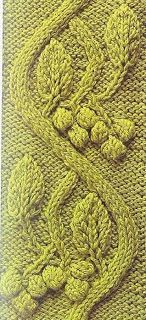 Free Knitting Patterns: Leaves So beautiful.