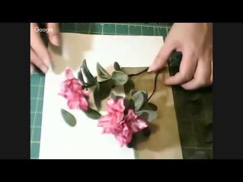 Цветы из шёлка- Азалия - YouTube