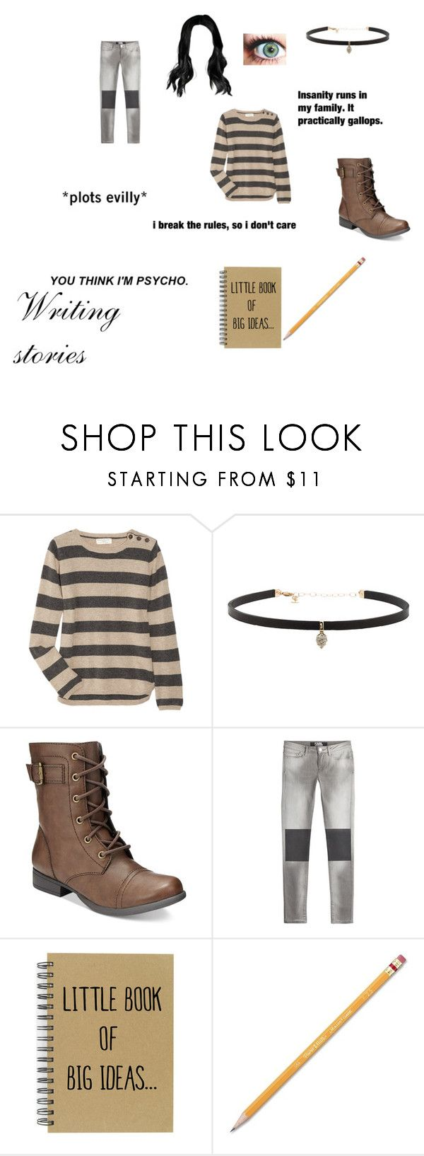 """""""Writing stories"""" by i-love-cake3 ❤ liked on Polyvore featuring Chinti and Parker, Carbon & Hyde, American Rag Cie, Karl Lagerfeld, E.vil and Paper Mate"""