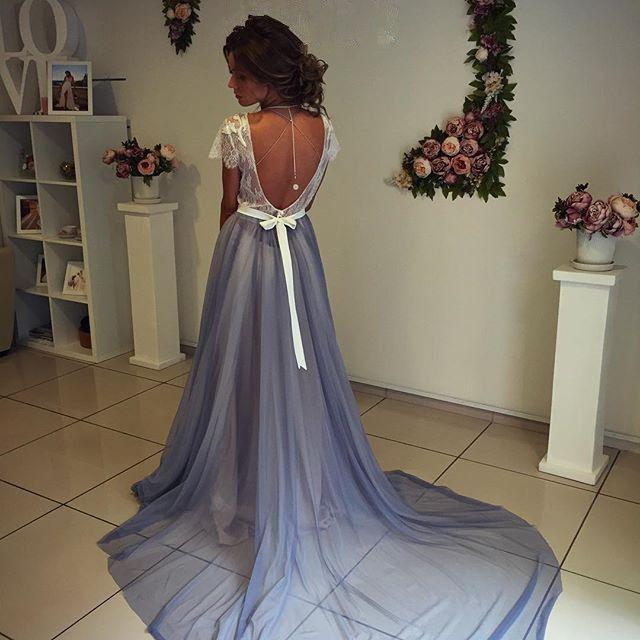 Modest Short Sleeve Prom Dresses, Fashion Prom Dress